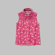 girls sleeveless tunic shirt