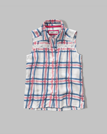 kids patterned sleeveless tunic shirt