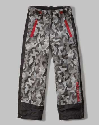 kids contrast snow pants