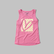 girls graphic sleep tank