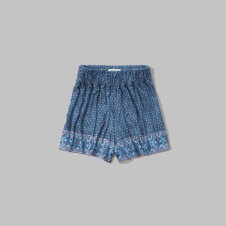 girls patterned drapey short