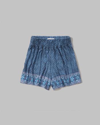 kids patterned drapey short