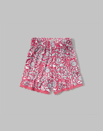 kids patterned drapey short