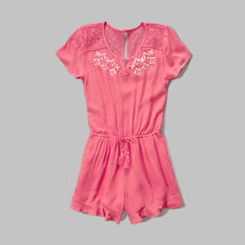 girls lace peasant romper