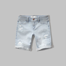 girls a&f denim boyshorts