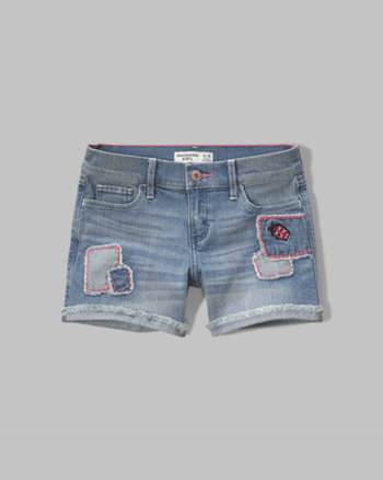kids a&f midi denim shorts