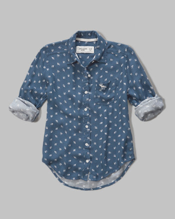 kids patterned woven shirt