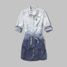 girls ombre chambray shirt dress