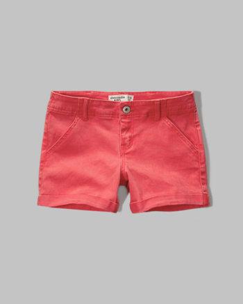 kids a&f midi twill shorts