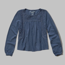 girls embroidered boho top