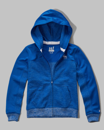 kids a&f sport panel full zip hoodie