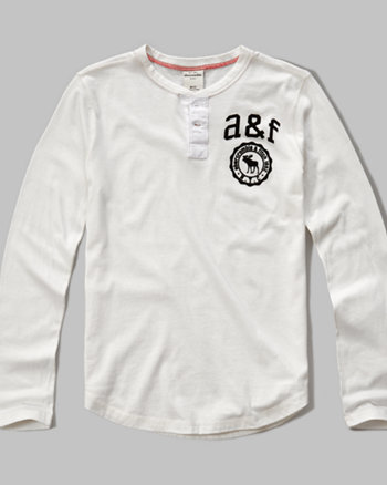 kids logo graphic henley