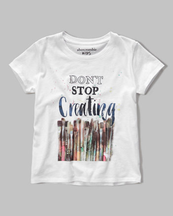 kids pretty graphic tee