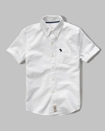 kids short sleeve oxford shirt