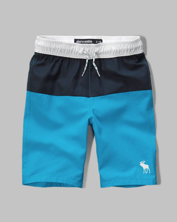 kids a&f colorblock board shorts