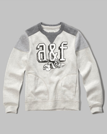 kids logo graphic crew sweatshirt
