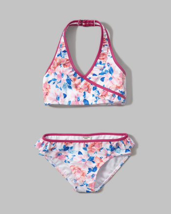 kids wrap two-piece swimsuit
