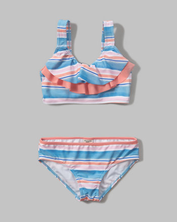 kids ruffle scoop two-piece swimsuit