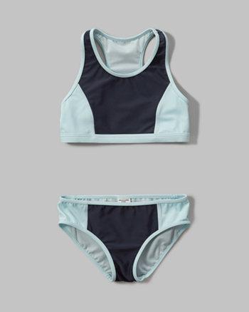 kids colorblock two-piece swimsuit