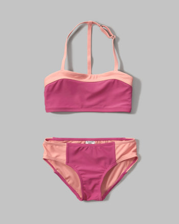 kids sweetheart bandeau two-piece swimsuit