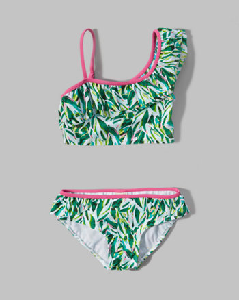 kids ruffle two-piece swimsuit