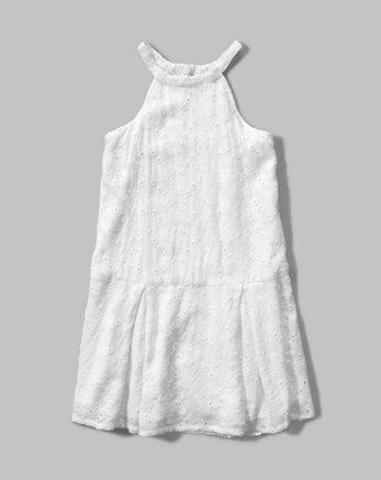 kids eyelet shift dress