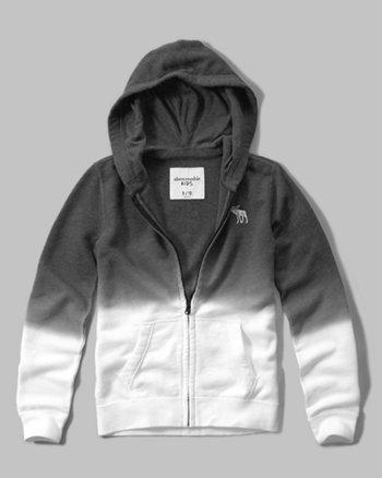 kids dip-dye hoodie