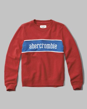 kids logo crew sweatshirt