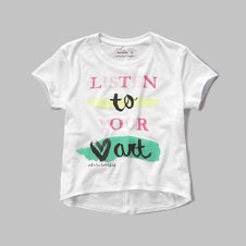 girls shine logo graphic tee