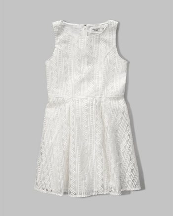 kids organza skater dress