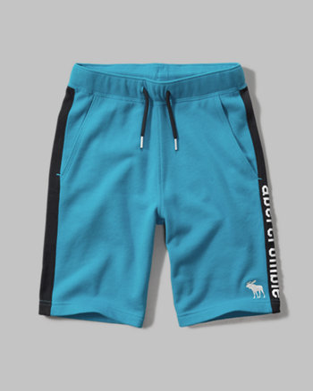 kids side stripe fleece shorts
