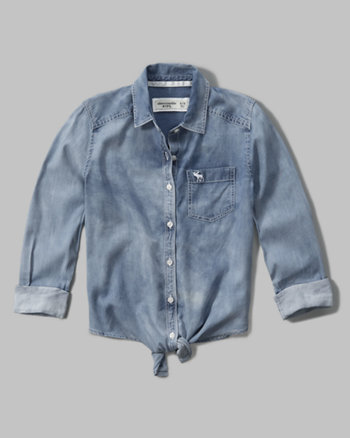 kids chambray boyfriend shirt
