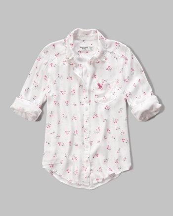 kids patterned boyfriend shirt