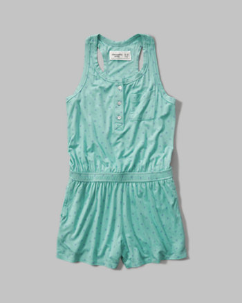 kids patterned knit romper