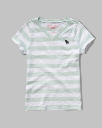 kids iconic v neck tee