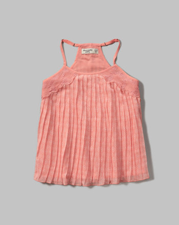 kids pleated chiffon cami