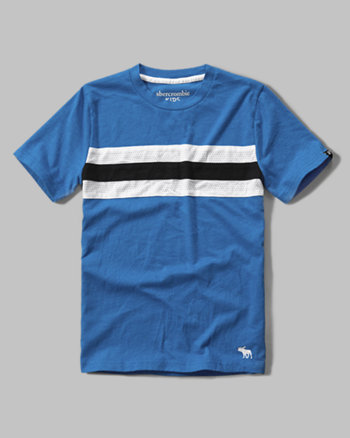 kids mesh stripe tee