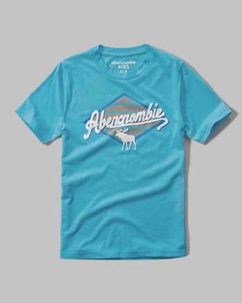 kids applique logo graphic tee