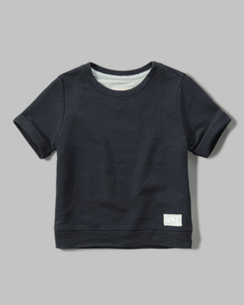 kids short sleeve sweatshirt