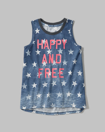 kids americana graphic tank