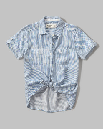 kids drapey short sleeve shirt