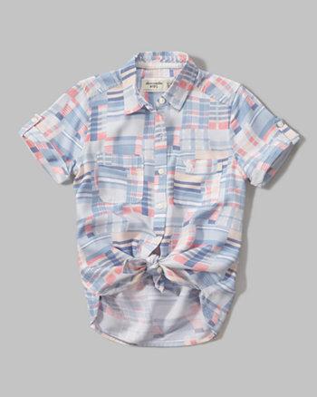 kids drapey short sleeve shirt