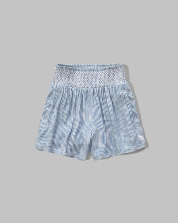 kids smocked drapey shorts