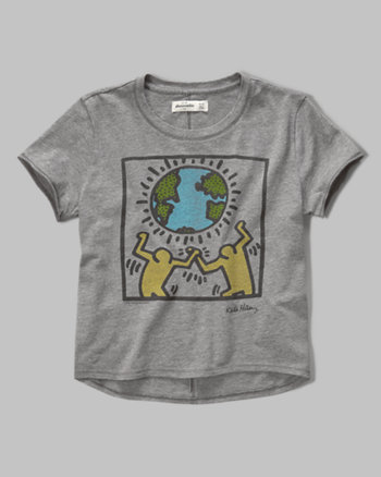 kids keith haring collaboration graphic tee