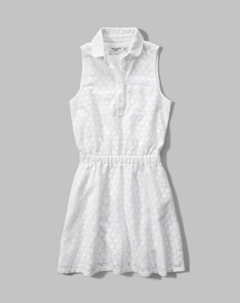 kids lace shirt dress