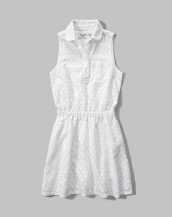 kids lace shirt dress