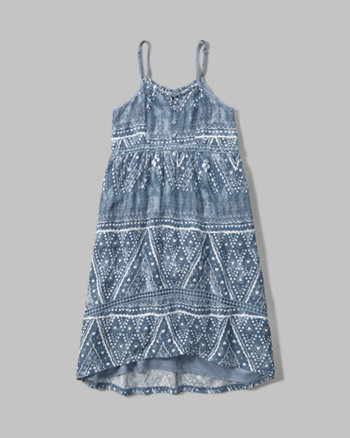 kids patterned high low dress