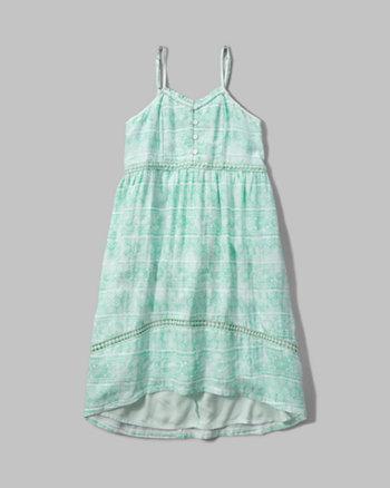 kids patterned high low dress