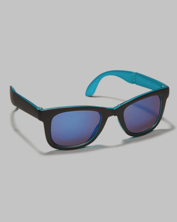kids foldable plastic rim sunglasses