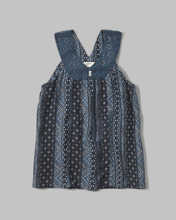 kids crochet v-neck tank